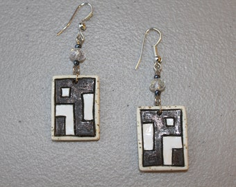 Unique handmade ceramic earrings