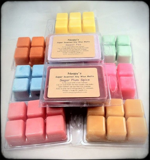 Get 6 Six-Pks TRIPLE SCENTED-CLEARANCE- Soy Wax Clam Shells Noopy's Candle Melts/Tarts- Grab Bag