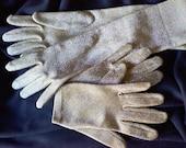 Vintage Sparkly gold gloves