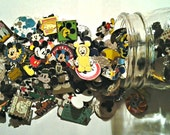 Jar of 100 Disney Pins. Assorted styles