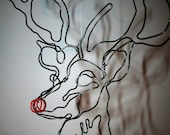 wire reindeer head
