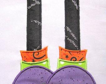 Monster Feet 1 Machine Applique Embroidery Design - 4x4, 5x7 & 6x8