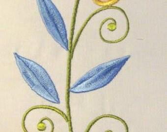 Vintage Flower 04 Machine Applique Embroidery Design - 5x7 & 6x8