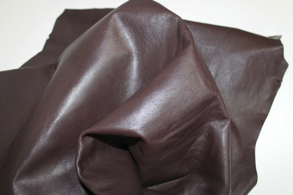 ITALIAN lambskin leather skin skins hide premium CHOCOLATE  BROWN 7sqf