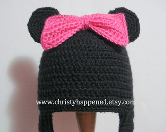 Minnie Mouse hat with changable bows