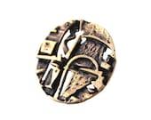 Sale : Modernist Finland Vintage Jorma Laine Bronze Mosaic Ring 1970s Turun Hopea Nordic Scandinavian