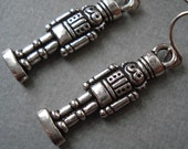 Toy Soldier Earrings - Antique Pewter Holiday Earrings