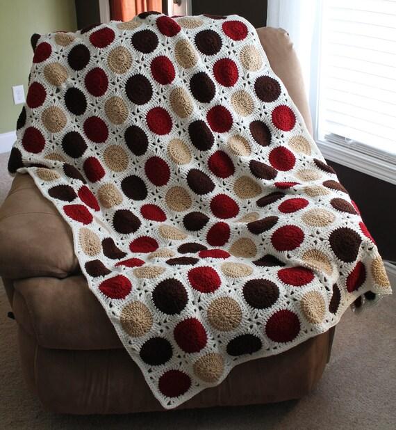 Pok-A-Dot Patchwork Quilt Granny Square Afghan