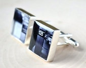 Custom photo cufflinks - use your own photo image gift for him on your wedding day or special occasion