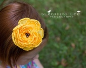 Flower Hair-Clip Headband Brooch - Sunflower - MEDIUM