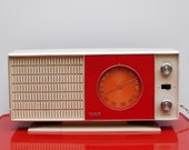 Vintage RCA red, white and orange radio, Model RZC 23 OR