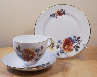 Vintage Gainsborough Tea Cup, Gainsborough Vintage Bone China Trio, UK Seller