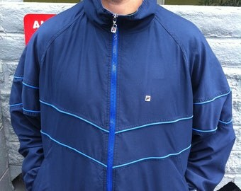 Blue Fila casual style zip up jacket