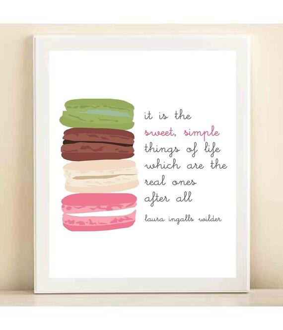 The College Prepster & Amanda Catherine Designs 'Macaron' print poster