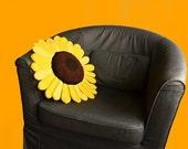 Sunflower Pillow Crochet Pattern, Flower Pillow Crochet Pattern, Shaped Cushion Crochet Pattern, Sunflower Crochet Pattern, Flower Pattern
