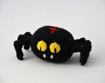 Vampire Spider Crochet Pattern, Amigurumi Spider Pattern, Halloween Crochet Pattern, Amigurumi Halloween Pattern, Halloween Amigurumi