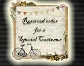 RESERVED Listing/Custom Order for Kendra