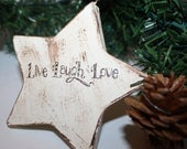 Christmas Rustic Vintage Shabby Chic French Country Star Ornament