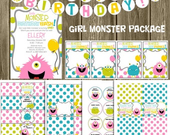Monster Printables Package: Girl