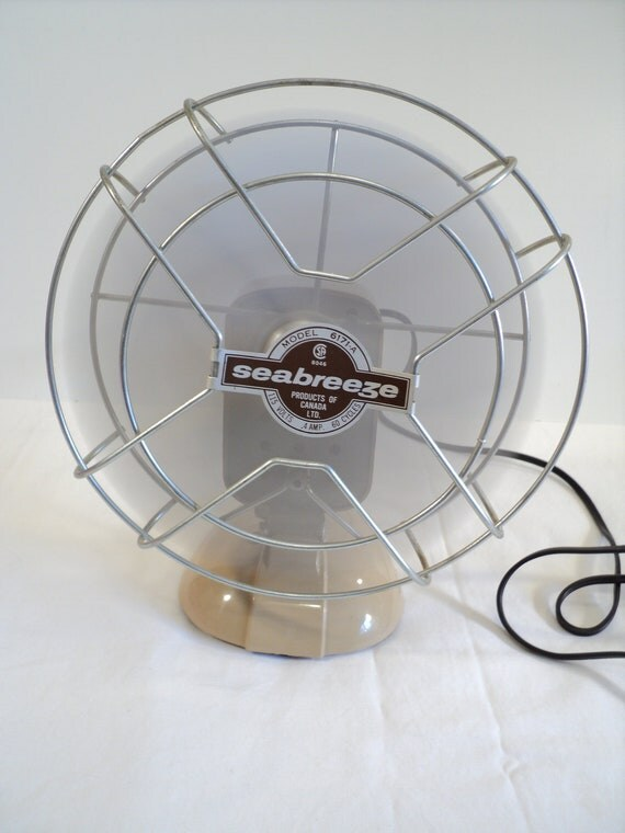 Small Industrial Desk Fan Seabreeze 1960 s