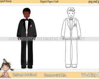Digital Stamp Wedding 4 INSTANT DOWNLOAD