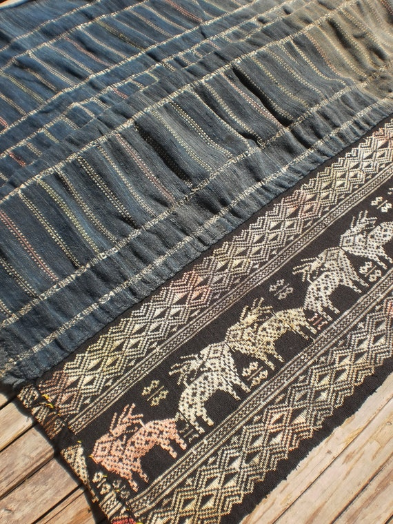 Vintage Handmade Textile From Old Laos Skirts