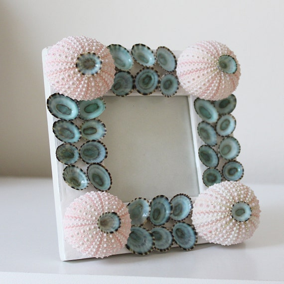 Items similar to sale beach decor seashell picture frame for Beachy decor items