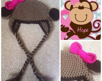 Crochet Lil Monkey Beanie/Hat