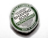Peppermint Shaving Soap, All Natural Foamy Soap