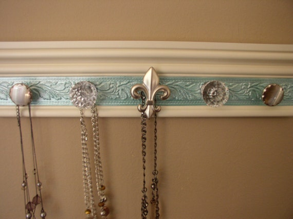 Jewelry organizer This necklace rack wall by