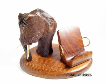 """NEW Wooden Stand """"MAMMOTH"""" , New IPhone 5/4S/4/3GS Wood Table Stand. Unique Handcrafted Natural Ash-Tree"""