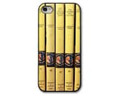 Books iPhone Case, iPhone 4/4 5/5S 5C Case, Mystery Books, iPhone Case, Vintage Childrens Books, Yellow Black Books