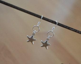 Seashell Jewelry ... Starfish Dangling Earrings (0627)