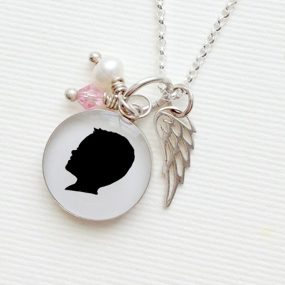 Tiny Sterling Silver Angel Wing Charm