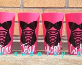Personalized Cups, Bachelorette Weekend, Bridesmaids, Lingerie, Gifts,Set of 5