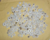 1/2 lb Pound Antique Vintage White Glass  Buttons Button Sewing Crafts Jewelry Making 2 Hole 4 Hole