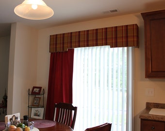 Upholstered Cornice Board and Fully Lined Drapery Panel (Dining Area) - Price is an approximation only