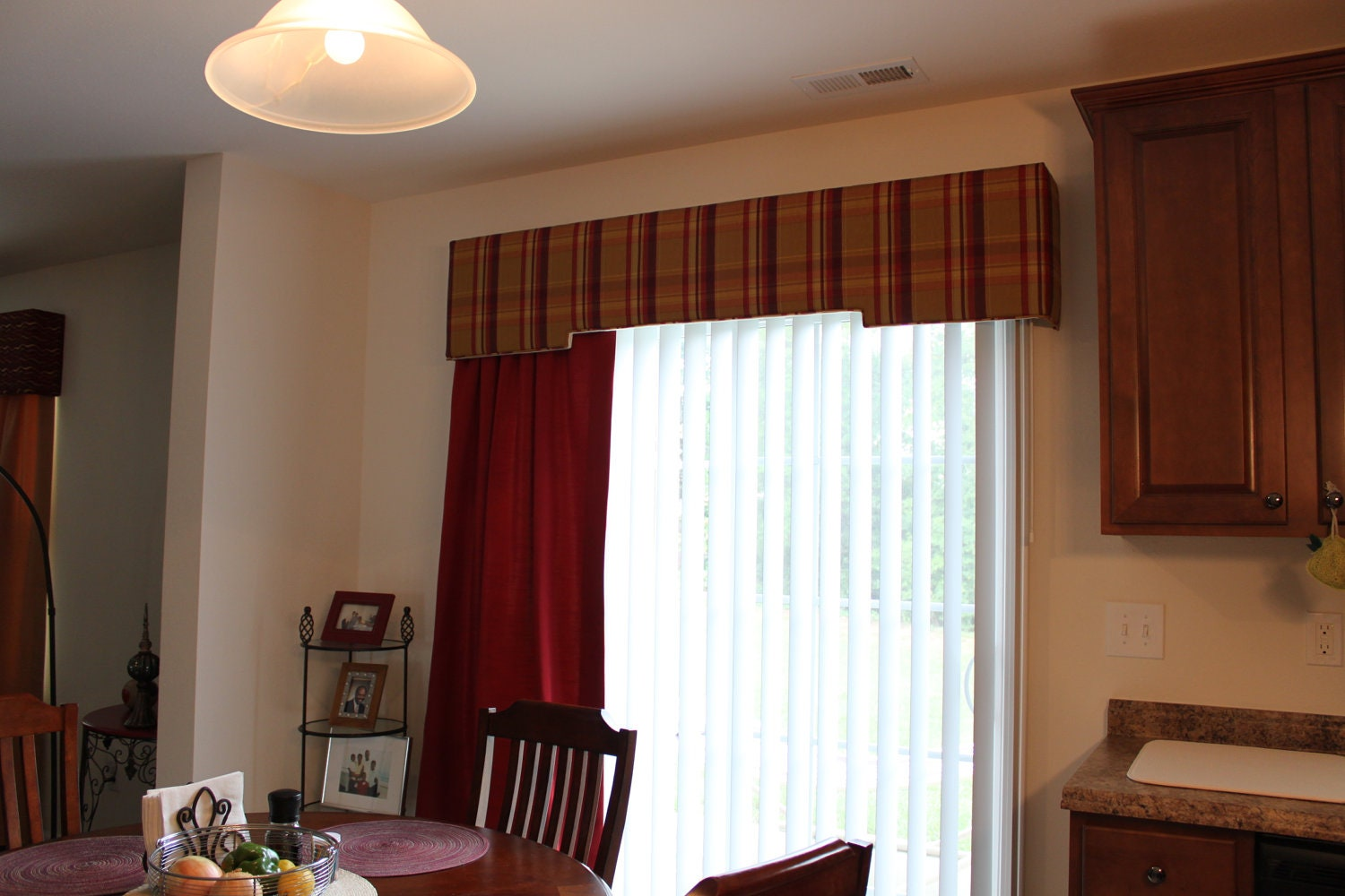 Upholstered Cornice Board And Fully Lined Drapery Panel