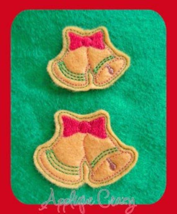 Christmas bells feltie design