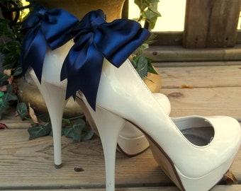 Wedding Shoe Clips, Bridal Shoe Clips, Satin Shoe Clips, Clips for Wedding SHoes, Bridal Shoes, MANY COLORS AVAILABLE, Shoe Clips