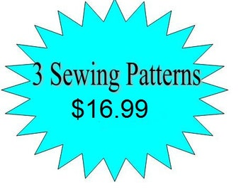 3 Girls Dress Sewing Patterns - Any 3 Patterns in my Shop for 16.99 - Toddler Pdf Pattern