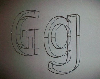 20 Inch Wire Letters A To Z