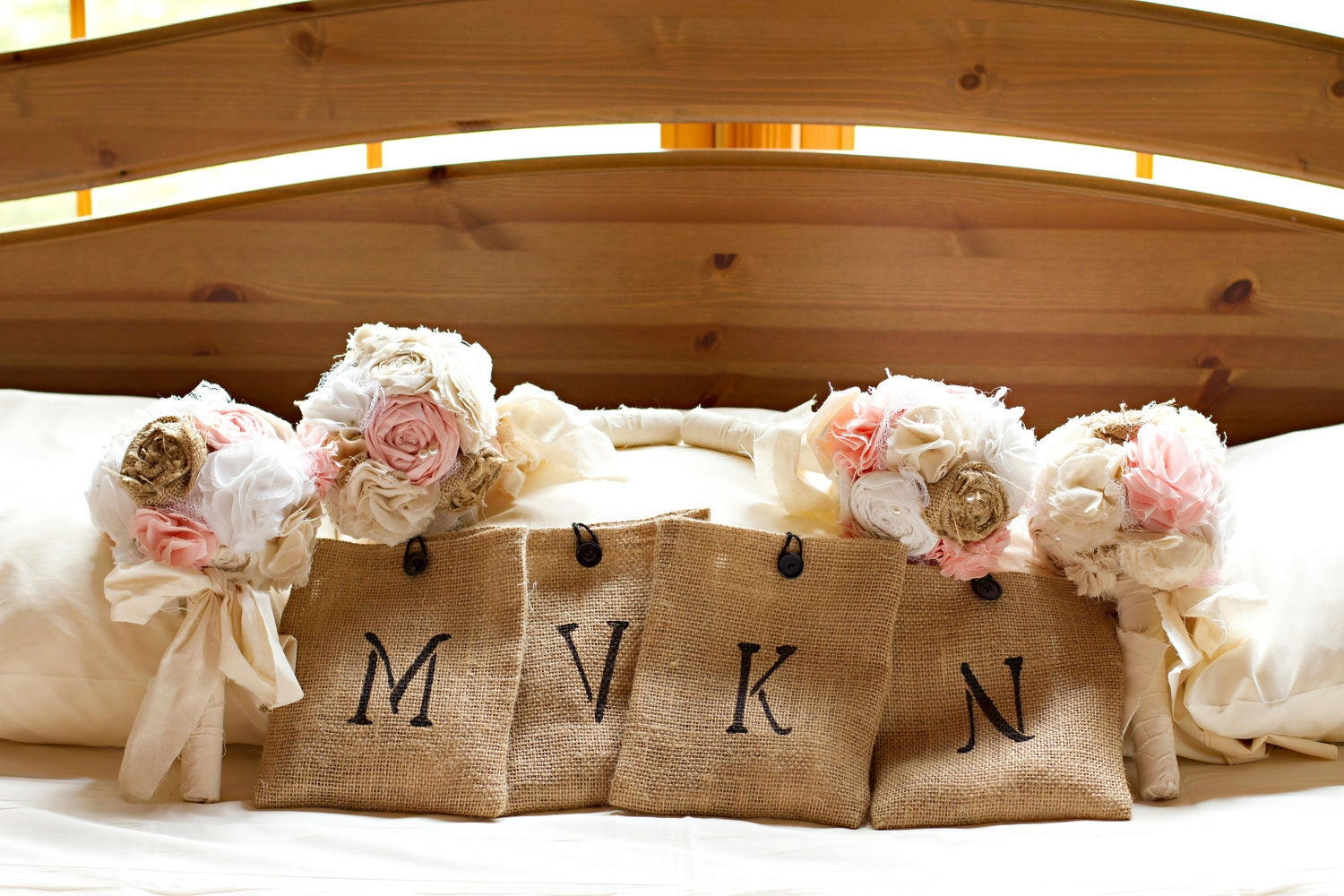 Shabby chic romantic rustic wedding bouquet package shabby for Bouquet chic