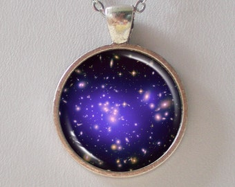 Galaxy Necklace -Galaxy Cluster Abell 1689 & Dark Matters - Galaxy Series (G022)