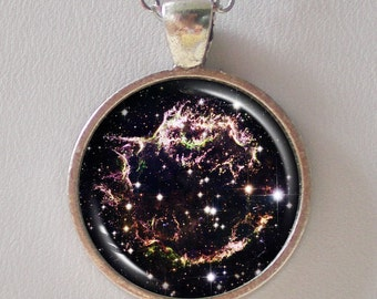 Astronomical Necklace -Supernova Remnant Cassiopeia A - Galaxy Series (G028)