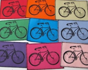 One Bike canvas patch in any color you choose....FREE SHIPPING USA