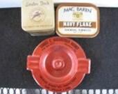 Vintage ashtray Samuel Harshberger and 2 tobacco tins