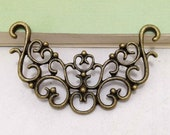 10pcs Antique Bronze Filigree Flower Focal Connector Charm for Necklace Pendants 28x54mm C103-2
