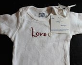 Love - Christmas Onesie, Hand Embroidered - funlittlethings