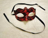 Cupid: Red and Black Lace Masquerade Mask